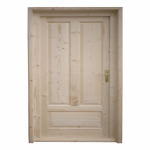Usi lemn masiv cu geam