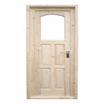 Ușă interior lemn masiv geam termopan