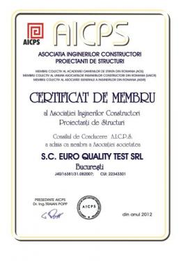 Certificat AICIPS Euro Quality Test