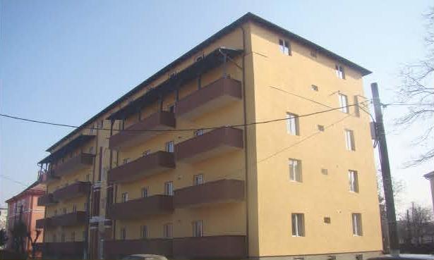 Constructie bloc de locuinte Fagaras P+3+M