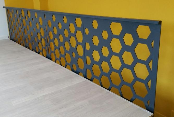 Balustradă din tablă decupată pe plasmă CNC