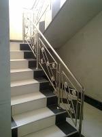 Balustrada inox cu model pentru scari interioare