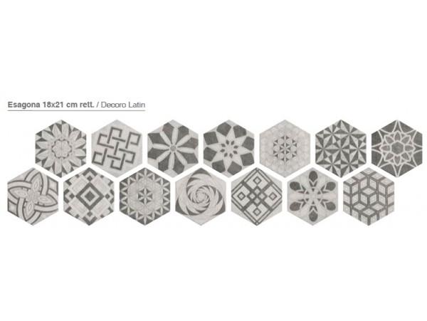 Decor gresie hexagonala