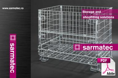 Descarca SARMATEC - Catalog confectii metalica rafturi metalice, containere din grilaj metalic